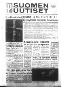 Suomen Uutisten ensimmäinen numero vuodelta 1961.