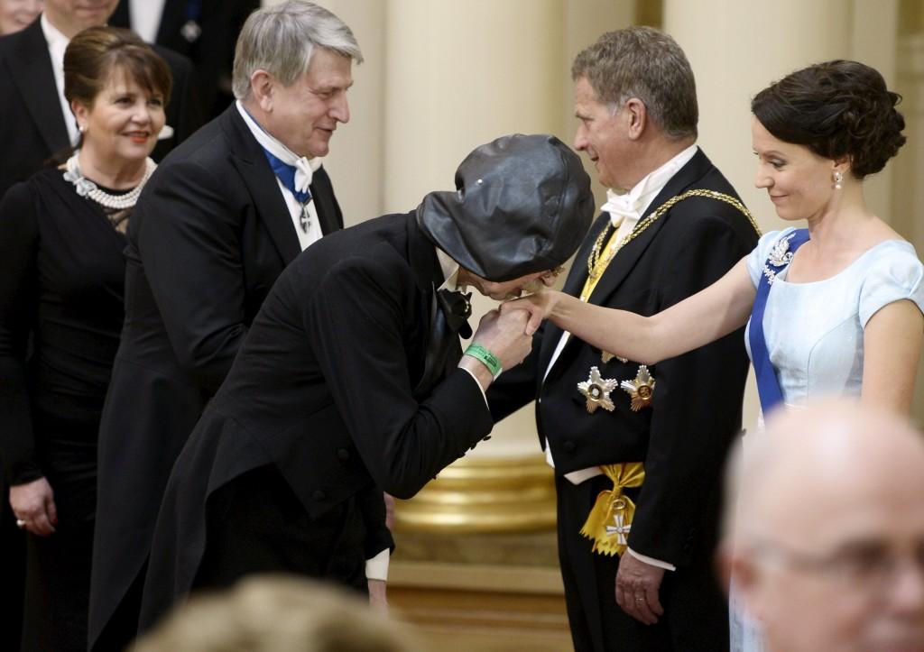 Itsenäisyyspäivän vastaanotto presidentinlinnassa 2014.