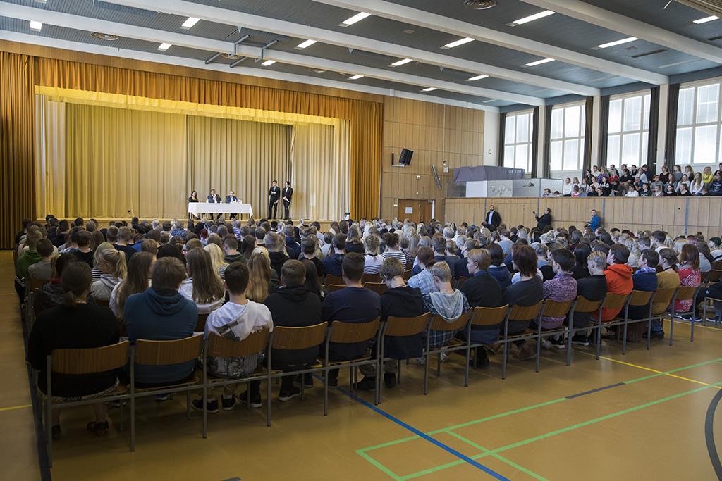 30.8.2016 Pori, Eduskuntaryhmän kesäkokous - Porin suomalaisen yhteislyseon lukio. kuva Matti Matikainen