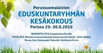 Eduskuntaryhmän kesäkokous käynnistyy