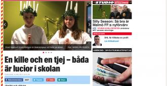 Lucia-traditio uusiksi Ruotsissa: Valon tuojan juhlassa neitona nyt sekä tyttö että poika