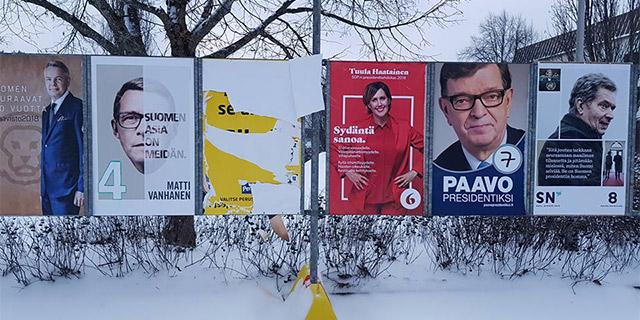Vaali-ilkivaltaa: revittyjä ja töhrittyjä Huhtasaaren julisteita ympäri Suomea