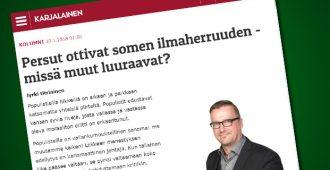 """Kokoomustaustainen Karjalainen-lehti märisee: """"Persut ottivat somen ilmaherruuden"""""""