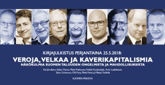 Perjantain tuumaustunnilla esitellään kirjauutuus Suomen talousnäkymistä – Veroja, velkaa ja kaverikapitalismia