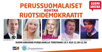 SuomiAreenan PS-päätapahtuma – Perussuomalaiset kohtaa Ruotsidemokraatit (live)