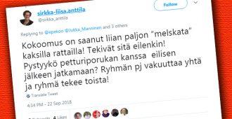 """Keskustan kansanedustaja hurjana – kutsuu kokoomusta """"petturiporukaksi"""""""
