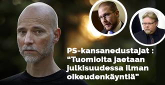 """Perussuomalaiset hallintoneuvoston jäsenet Ronkainen ja Immonen vaativat Ylen toimittajalle potkuja: """"Louhimiehen ajojahti mennyt liian pitkälle!"""""""