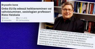Professori Ylellä: EU törmännyt hyvin hankalalla tavalla omaan arvopohjaansa – emme voi olla sinisilmäisiä, vapaa maahanmuutto romahduttaisi yhteiskuntamme perusrakenteet