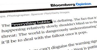 """Ex-pankkiiri ja talouskirjailija Bloombergilla: Kun """"Kaiken kupla"""" poksahtaa, ovat hyvät keinot vähissä"""