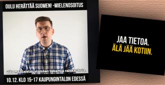 """Lapsiin kohdistuneet seksuaalirikokset liikaa – Oulun PS kutsuu mielenosoitukseen tänään: """"On aika kokoontua kertomaan, että meille riittää"""" (suora lähetys)"""