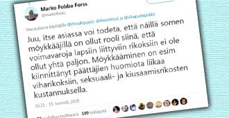 Entinen nettipoliisi Fobba: vihapuhejahti on vienyt voimavaroja lapsiin kohdistuneiden rikosten tutkinnalta