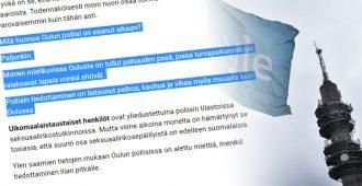 Yleltä täysin posketon väite: Oulun poliisi lietsoo tiedottamisellaan vihaa