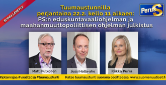 Perjantain Tuumaustunnilla: eduskuntavaaliohjelman ja maahanmuuttopoliittisen ohjelman julkistus