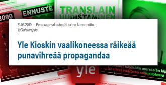 """Perussuomalaisten kansanedustajaehdokas kanteli eduskunnan oikeusasiamiehelle Ylen käyttäjiä johdattelevasta vaalikoneesta – """"Epäasiallista vaalivaikuttamista"""""""