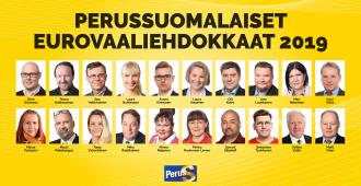 Tässä ovat perussuomalaisten eurovaaliehdokkaat