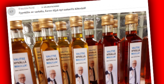 """Eduskunnassa villi basaarimeininki – Eero Heinäluoman kampanjaöljyä tuputetaan laajalla jakelulla, kaiken huippuna: """"maksa kirjekuoreen"""""""