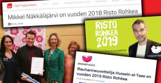 Ei ole todellista: SDP myönsi Risto Rohkea -palkinnon ensin kissantappaja-Näkkäläjärvelle, sen jälkeen Hussein al-Taeelle