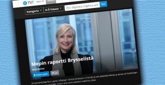 Mepin raportti Brysselistä – Laura Huhtasaarelle oma ohjelma TV7:lle