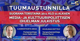Mitä mieltä Suomessa saa olla? Mikä on Ylen tehtävä? Torstain Tuumaustunnilla asiaa sananvapaudesta ja kulttuurista