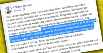 Yhdenvertaisuusvaltuutettu Pimiä kiilasi pätevämmän ohi kansliapäällikköfarssissa, kansanedustaja vaatii viranomaisselvitystä – mistäpä muualta kuin yhdenvertaisuusvaltuutetun toimistolta