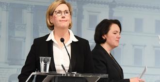 Tuula Haatainen ilmoitti Huoltovarmuuskeskuksen johtajan erosta, muttei vielä omastaan