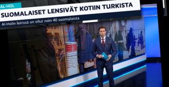 """Ylen pääuutislähetyksen käsittämättömät, ällösiirappiset sanavalinnat Isis-naisista: """"Suomalaiset lensivät kotiin"""", """"lapsia ja heidän huoltajiaan"""", """"perheet pakenivat leiriltä"""""""