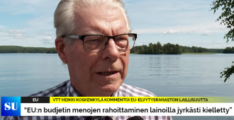 """Heikki Koskenkylä kommentoi EU-elvytysrahaston laillisuutta: """"Budjetin menojen rahoittaminen lainoilla jyrkästi kielletty"""" (video)"""