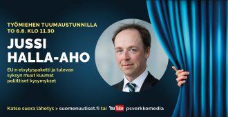 Tuumaustunnilla torstaina: Jussi Halla-aho, EU-elvytyspaketti ja syksyn kuumat poliittiset kysymykset