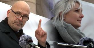 Katso Laura Huhtasaaren ja Mauri Peltokankaan tuliset puheet Fixit-mielenosoituksessa