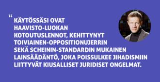 Pääkirjoitus: Arvon jihadisti – harkitse uudeksi asemapaikaksesi Suomea