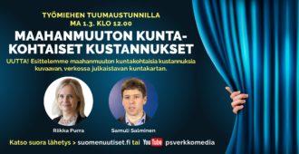 Maanantain Tuumaustunnilla: Riikka Purra, Samuli Salminen ja maahanmuuton kuntakohtaiset kustannukset