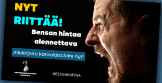 Perussuomalaisen Nuorison alullepanema kansalaisaloite polttoaineverojen alentamisesta etenee eduskuntaan – aloitteella yli 106 000 allekirjoittajaa