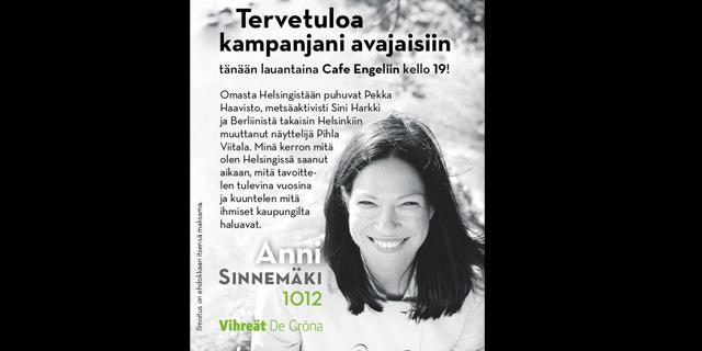 Pihla Viitala on tukenut Anni Sinnemäen vaalikampanjaa – mukana kampanja-avauksessa