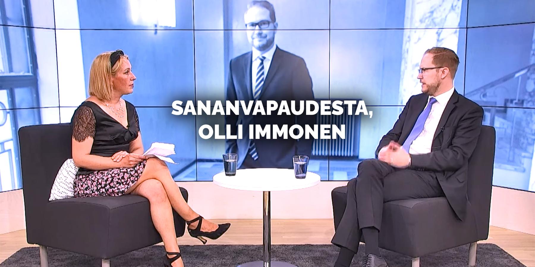 """Kansanedustaja Olli Immonen videohaastattelussa: """"Eliitti sensuroi sinua, sananvapaus on uhattuna"""""""