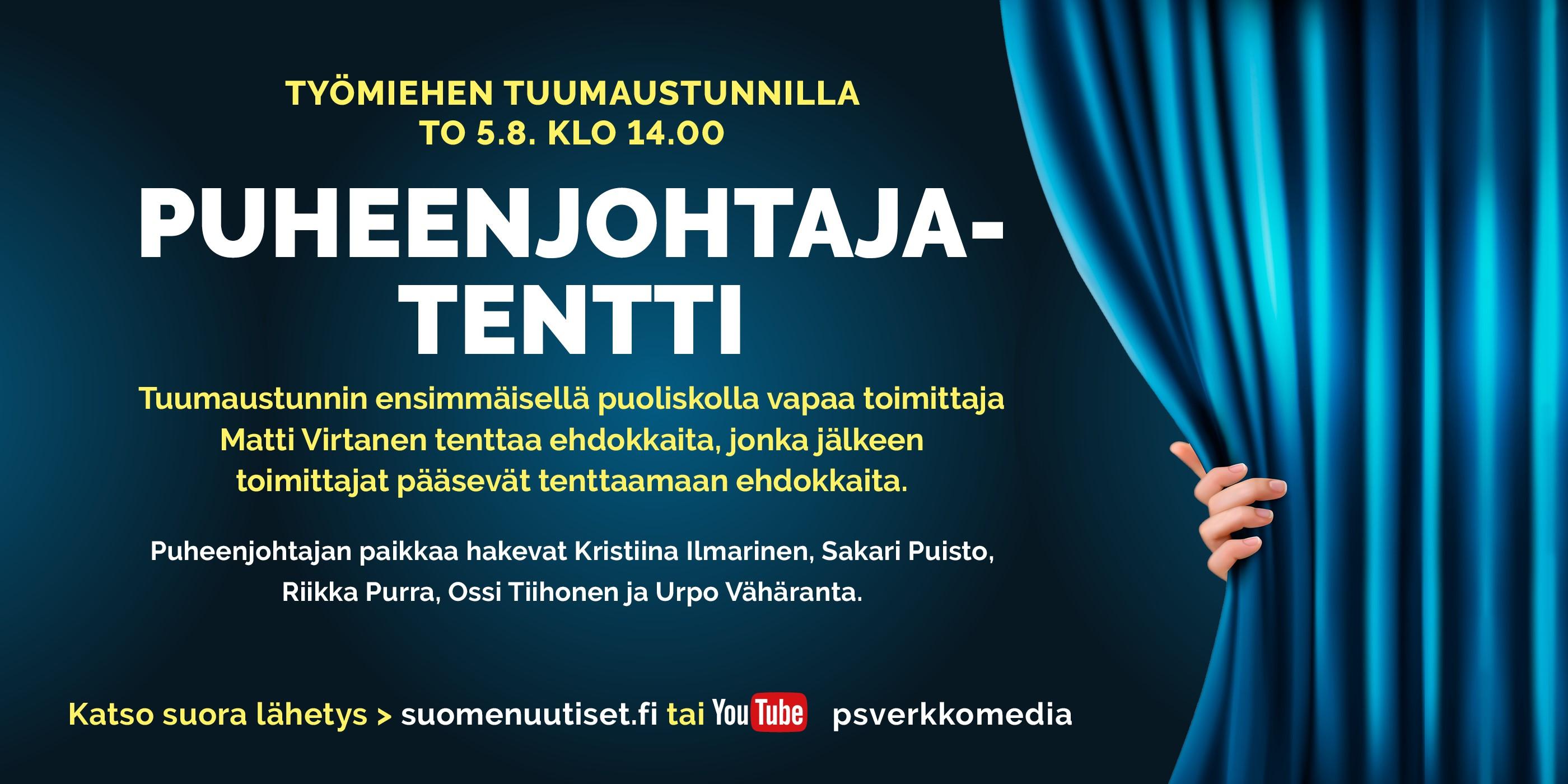 Torstain Tuumaustunnilla: Perussuomalaisten puheenjohtajatentti