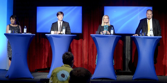 Perussuomalaisten puheenjohtajaehdokkaat keskustelivat taloudesta, pakkoruotsista ja kansallisvaltion merkityksestä