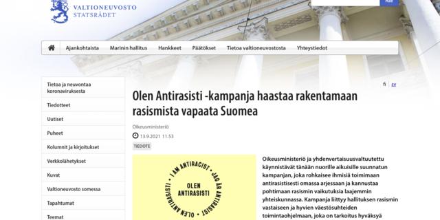 Leena Meri: Oikeusministeriöllä kummallinen Antirasisti-kampanja